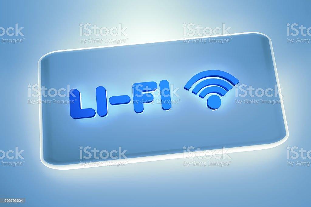 Li-Fi wireless internet technology stock photo