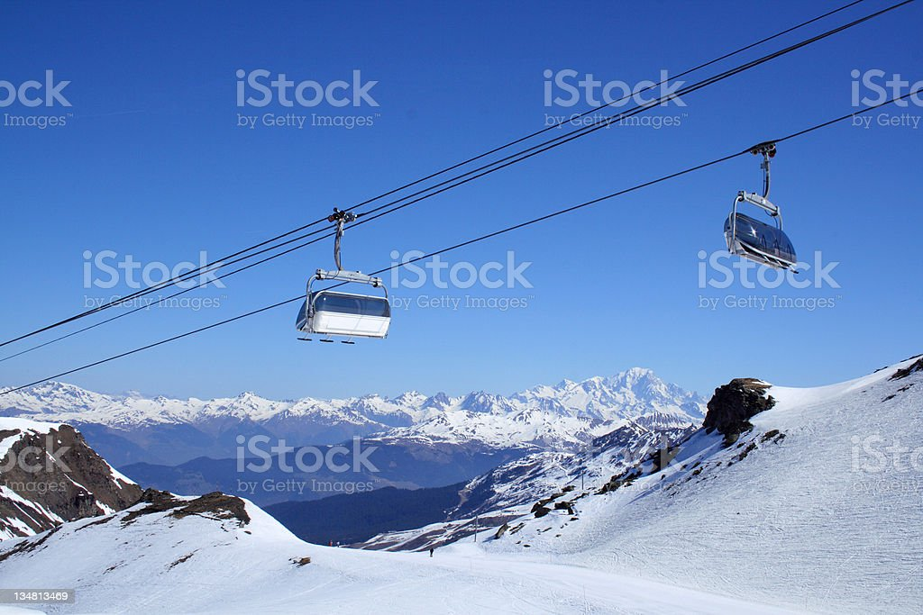 Lift at ski resort royalty-free stock photo