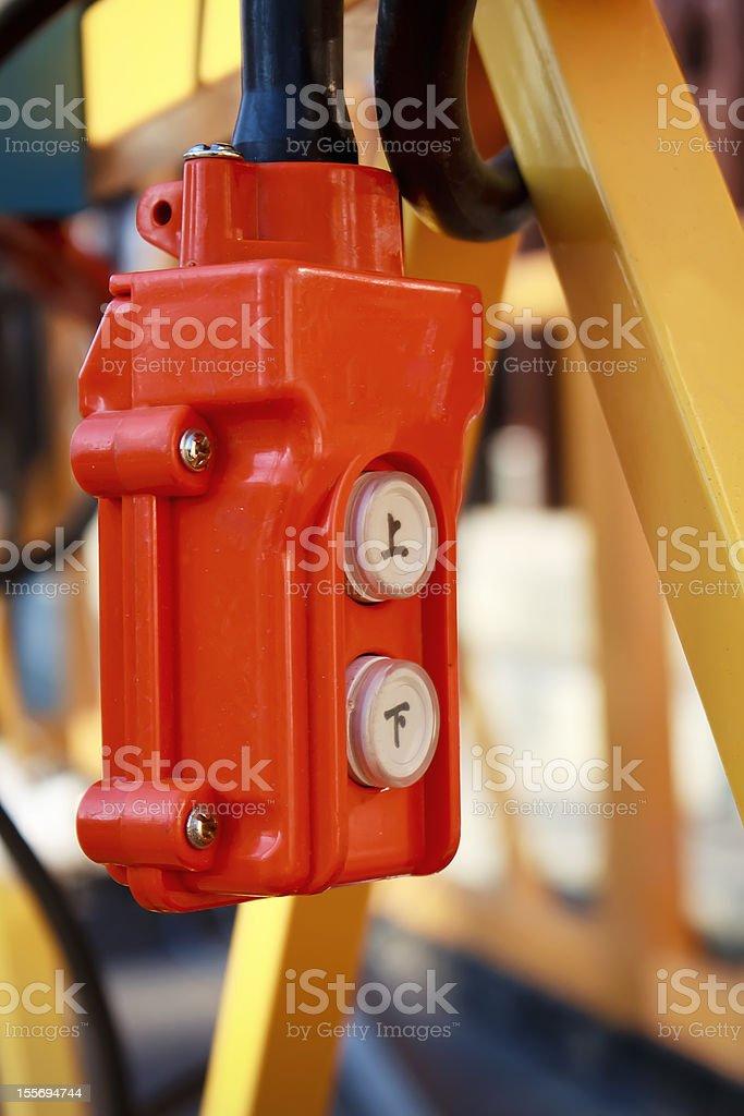 Lift control royalty-free stock photo