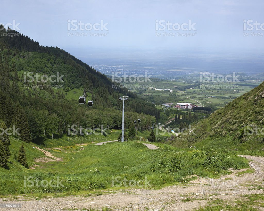 lift in the mountains royalty-free stock photo