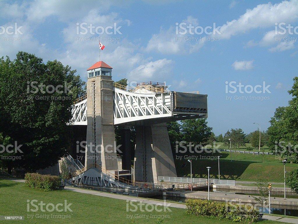 Lift Lock for Boats royalty-free stock photo