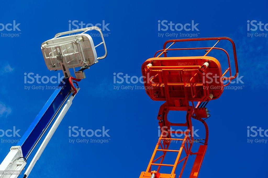 Lift platform bucket stock photo