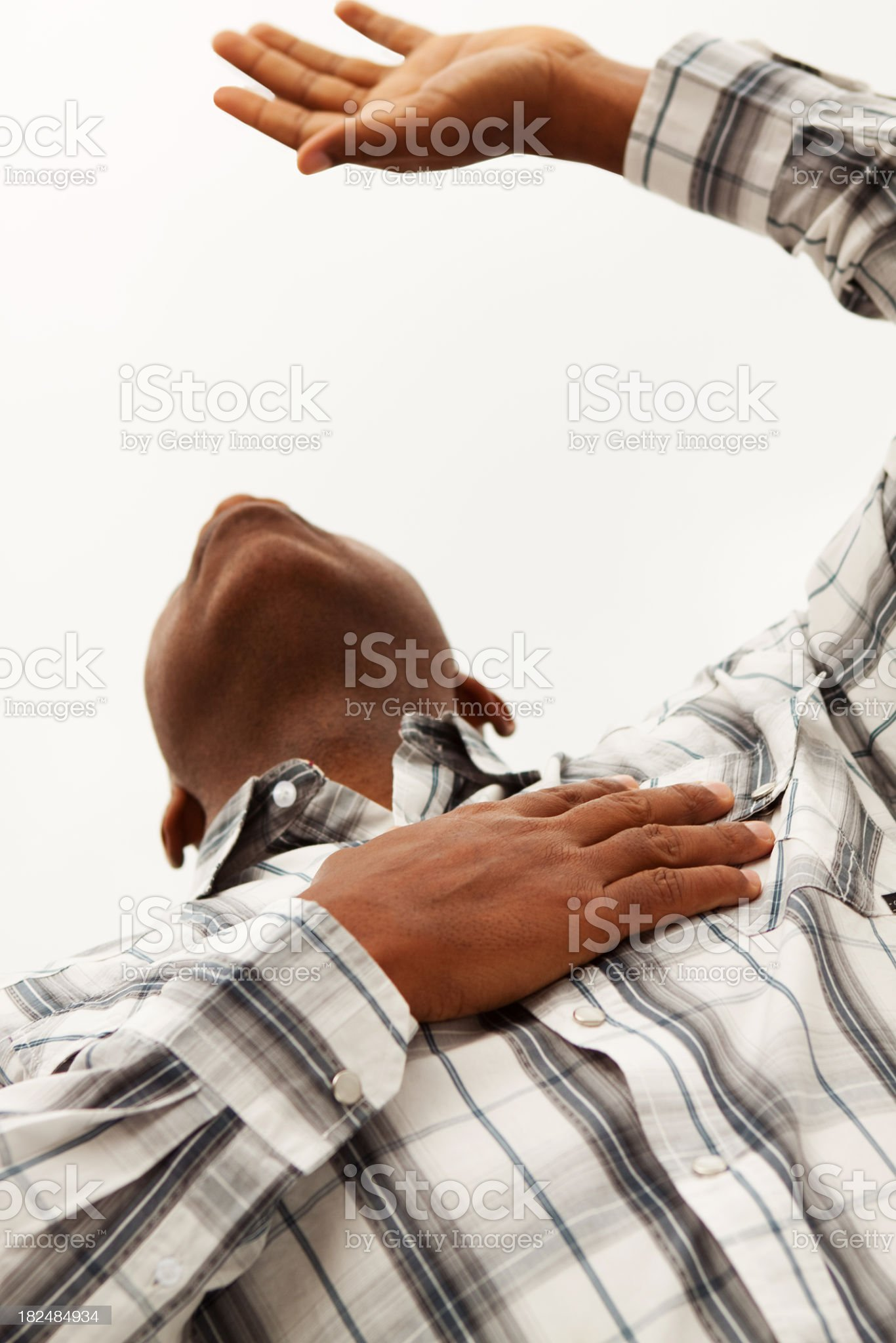 Lifted Hands royalty-free stock photo