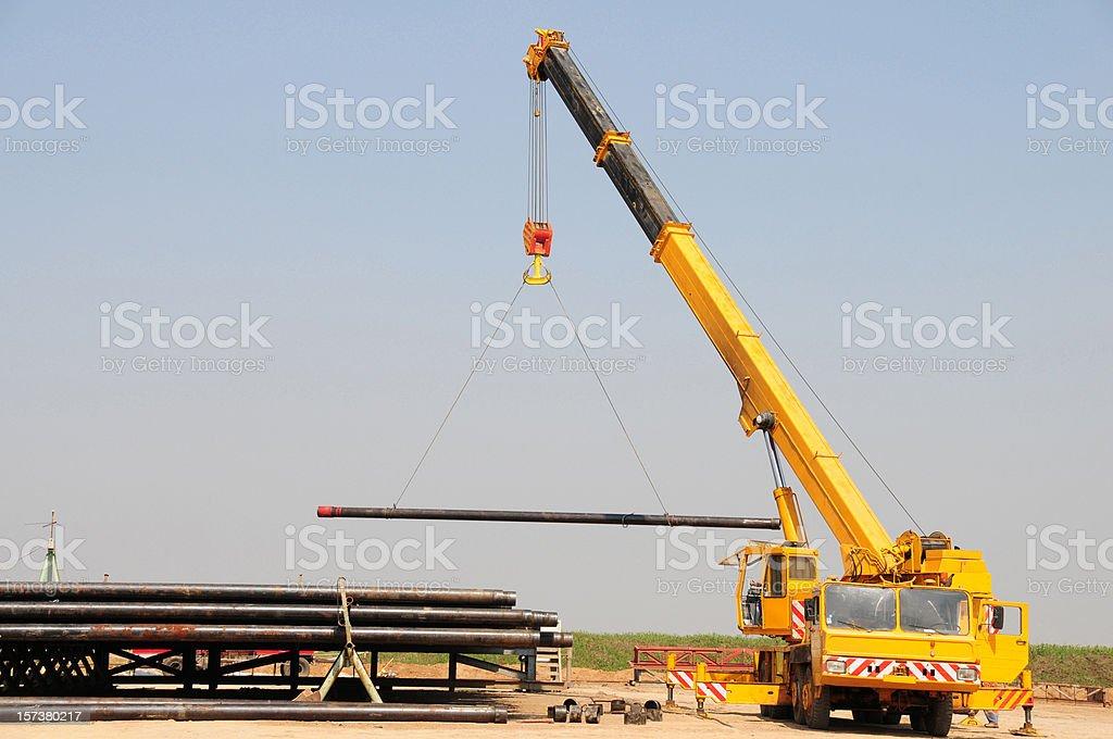 Lifting Crane stock photo