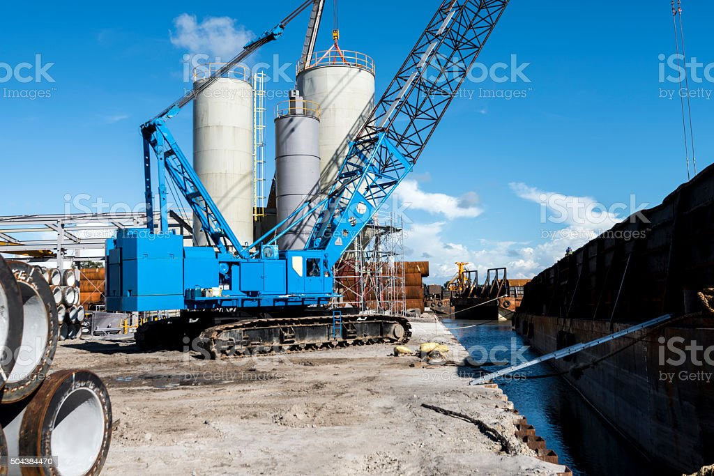Lifting Crane stock photo