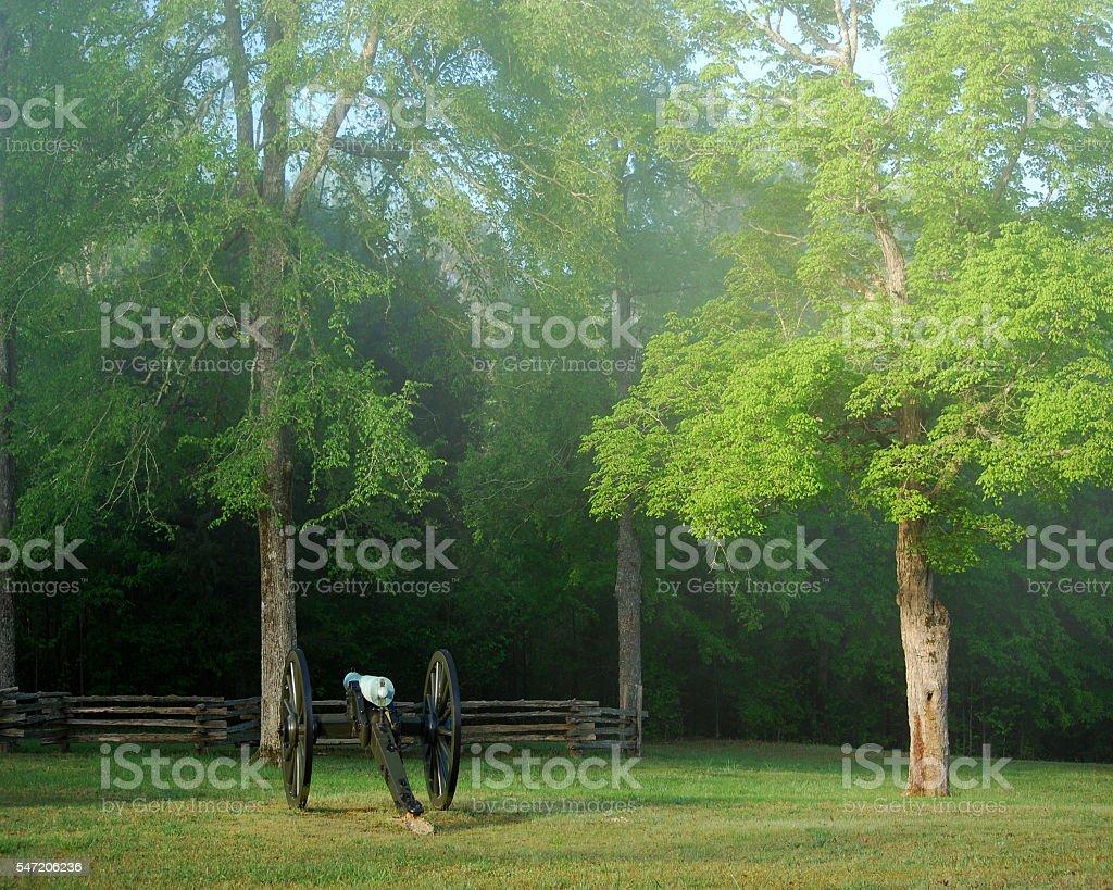 Lifting Fog stock photo