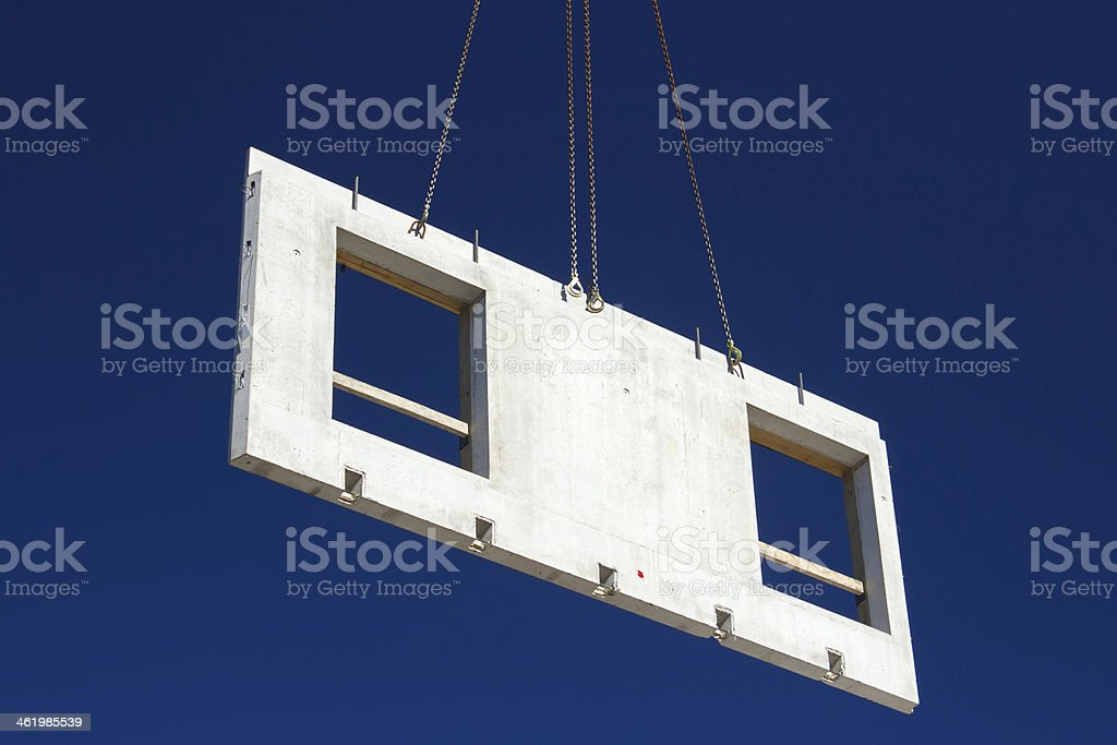 Lifting house wall panell royalty-free stock photo