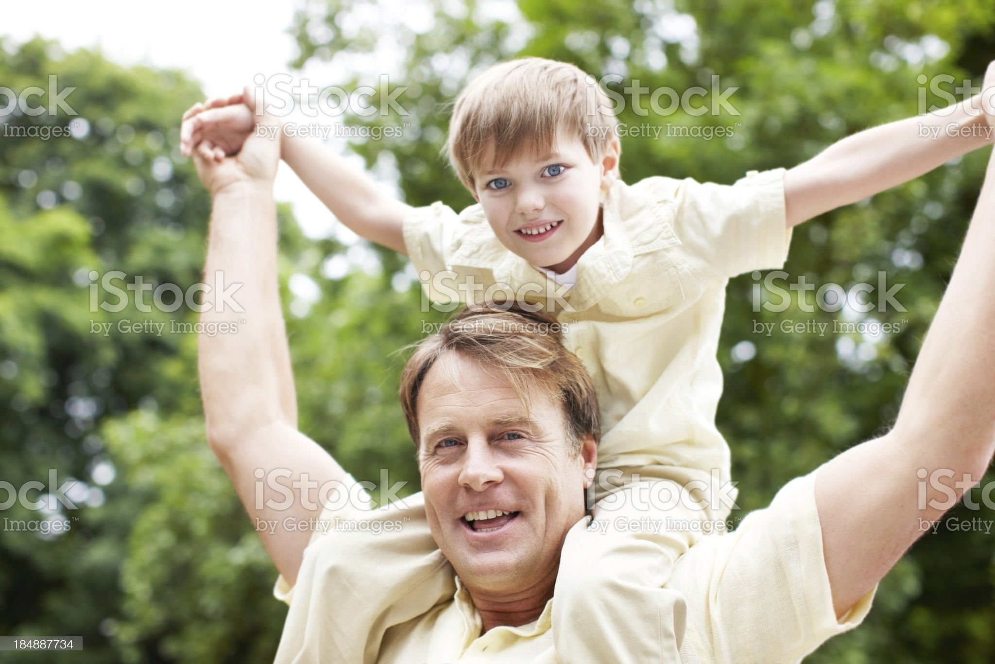 Lifting our spirits together royalty-free stock photo