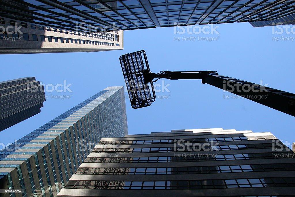 Lifting to skies stock photo