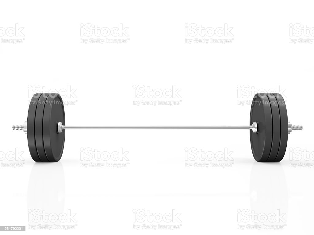 Lifting Weight Isolated on White Background stock photo