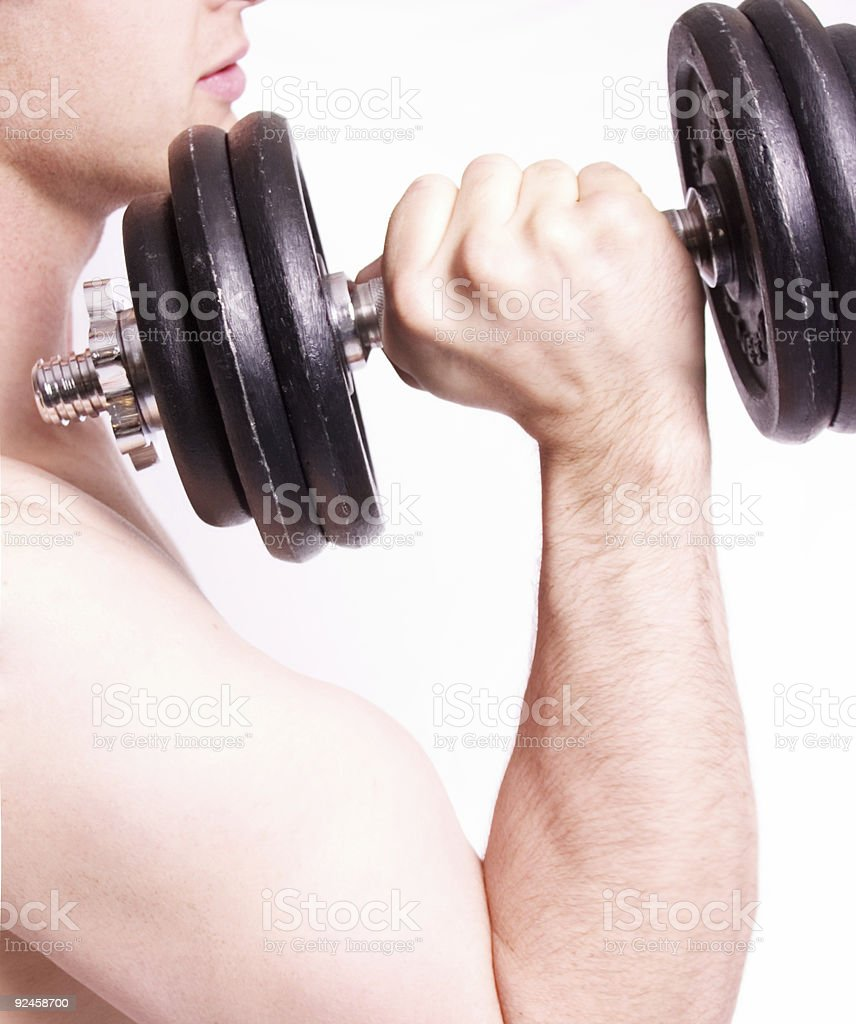 Lifting Weight royalty-free stock photo