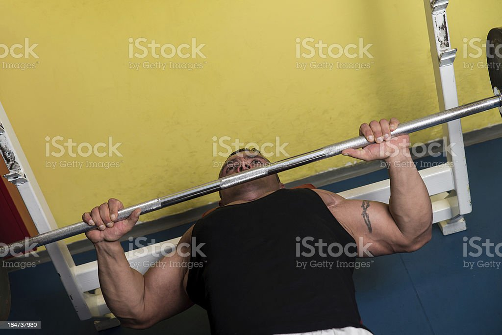 Lifting Weights royalty-free stock photo