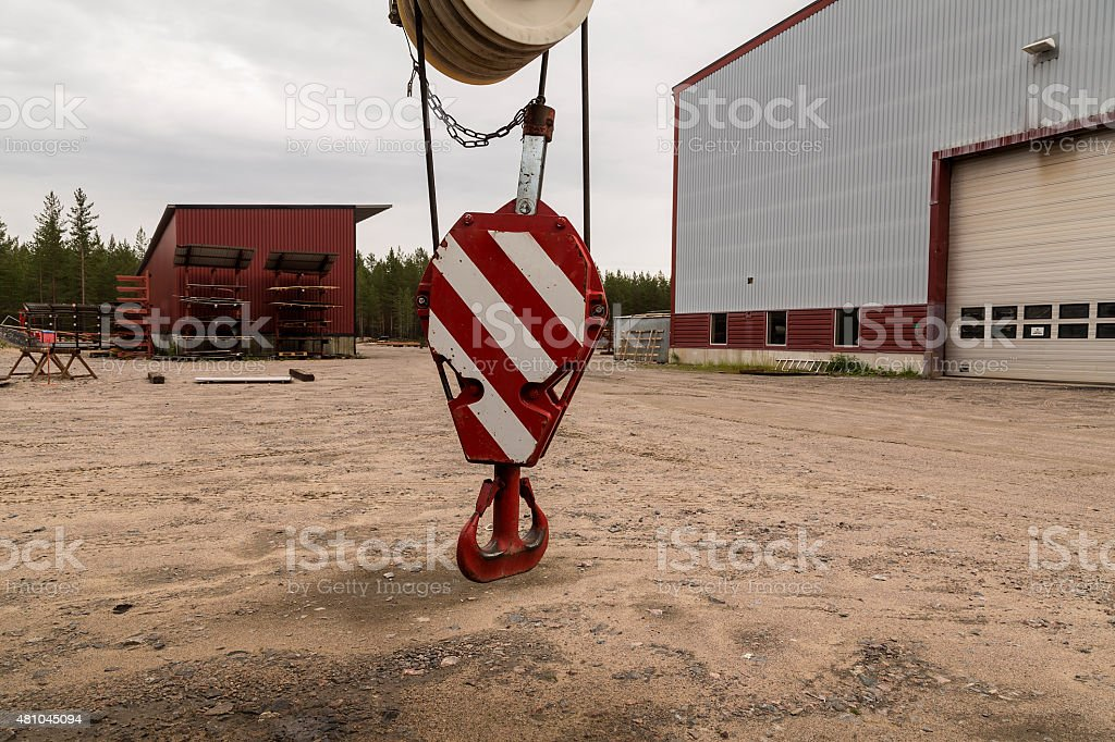 Liftting hook for a crane royalty-free stock photo