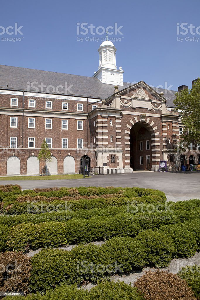 Liggett Hall on Governor's Island - New York City stock photo