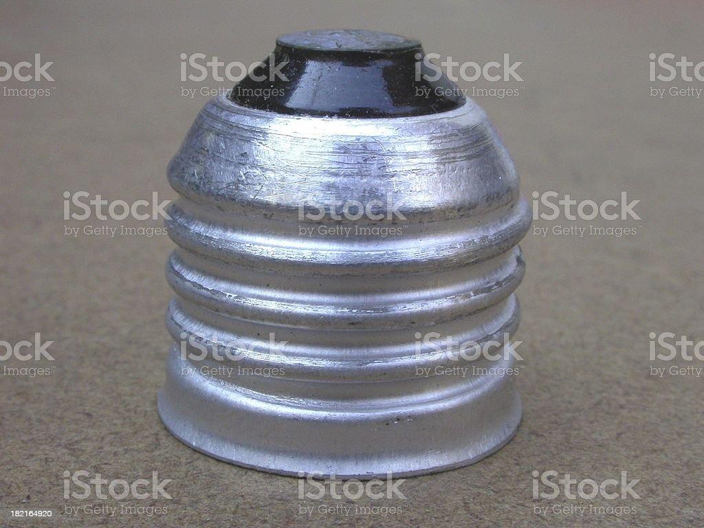 Ligh bulb socket stock photo