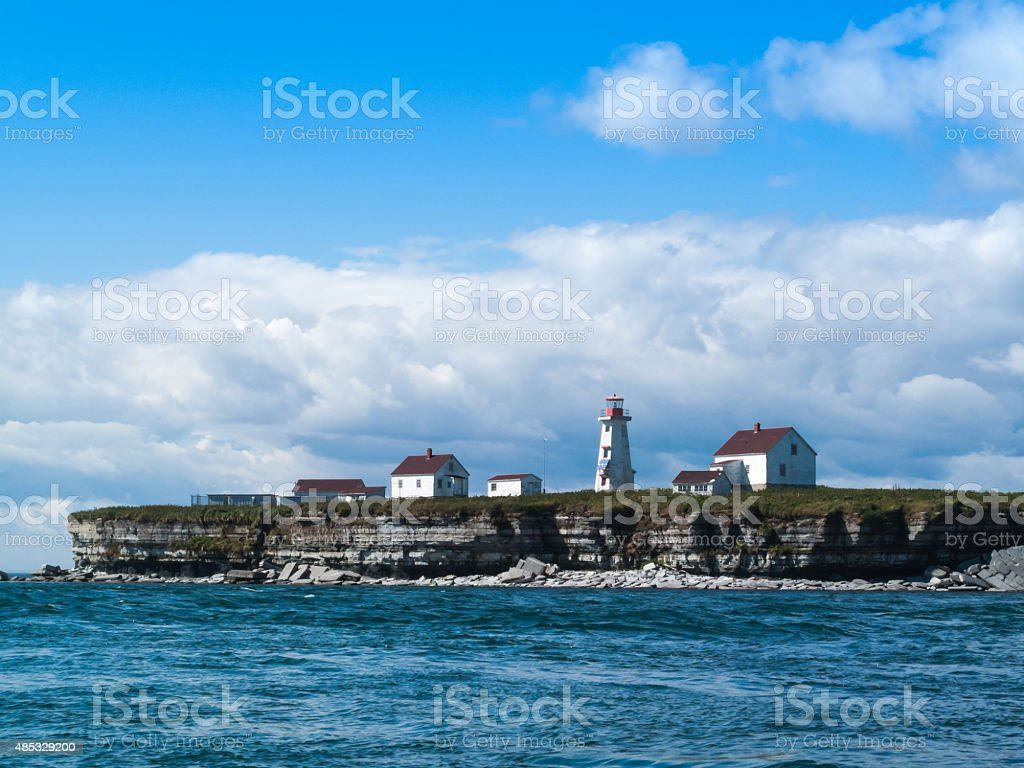 lighhouse and buildings stock photo