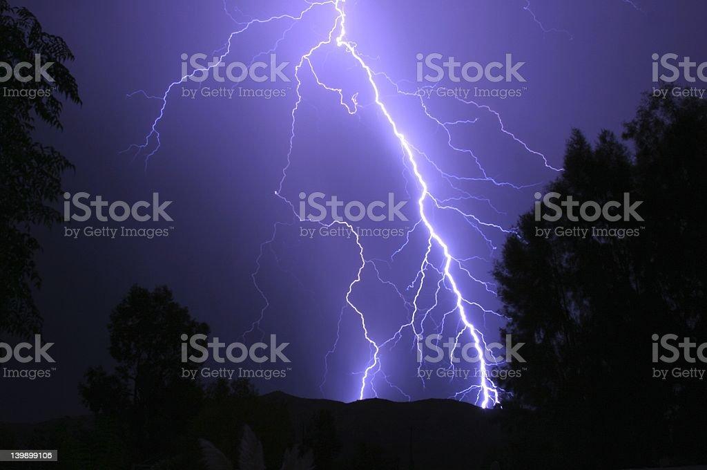 Lighning Storm royalty-free stock photo