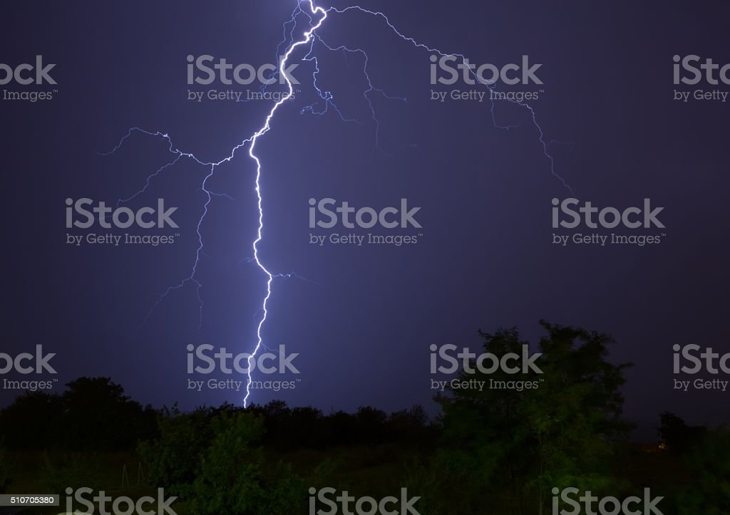 Lighning Strikes stock photo