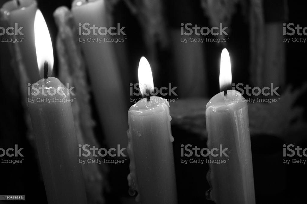 Light a candle in Fatima, Portugal stock photo