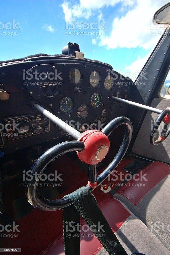 light aircraft cockpit royalty-free stock photo