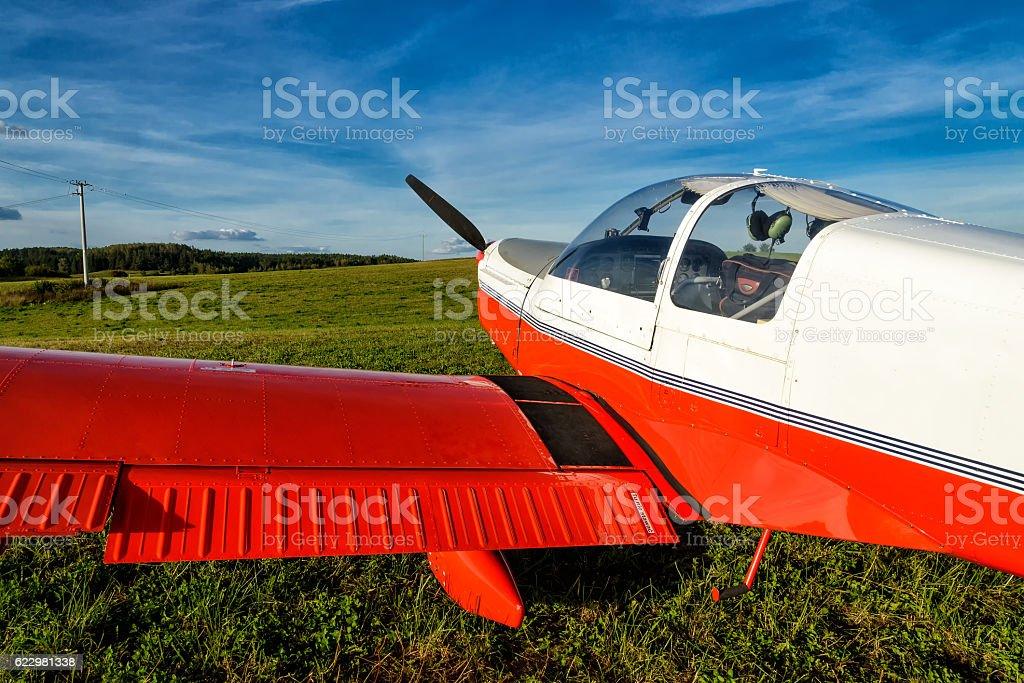 light aircraft stock photo