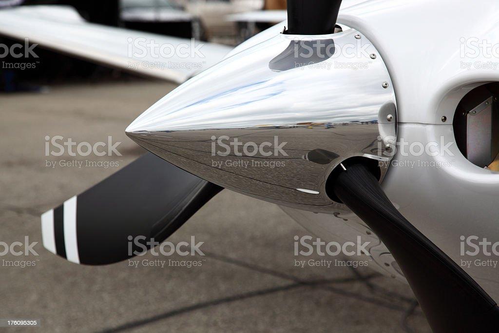 Light Aircraft Propeller stock photo