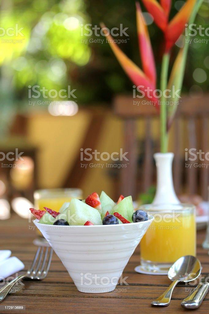 Light & Healthy Fruit Salad royalty-free stock photo