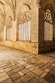 Light and silence in the cathedral cloister. Soria, Spain, Europe.