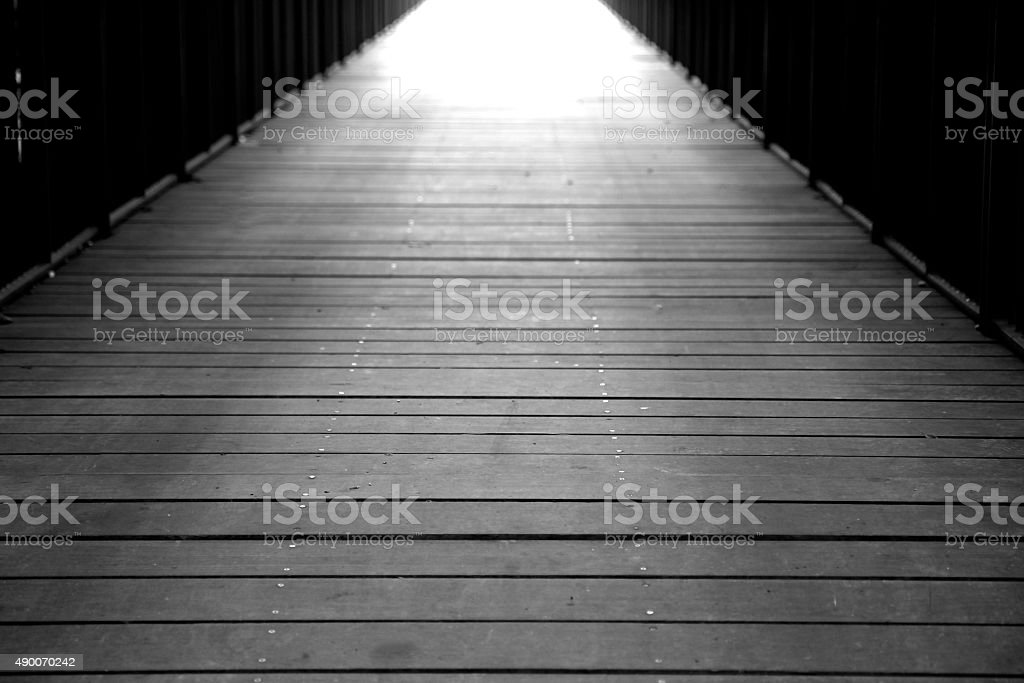 Light at End of the Pathway stock photo
