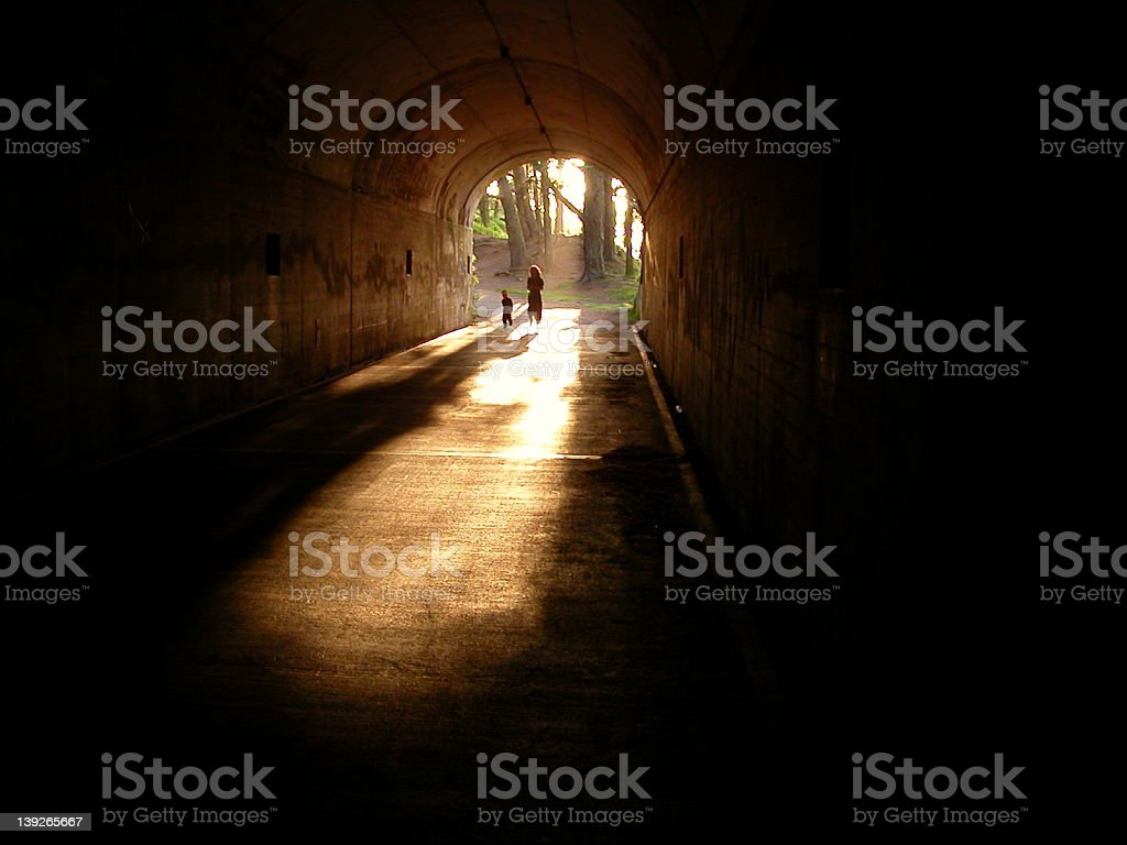 Light at end of the tunnel royalty-free stock photo