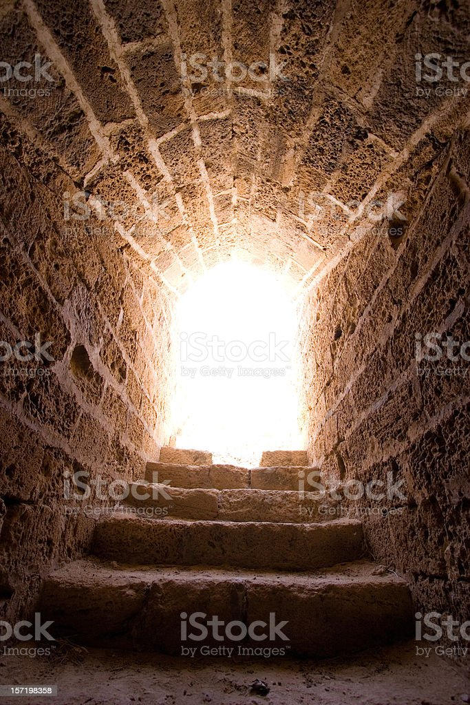 Light at End of the Tunnel stock photo
