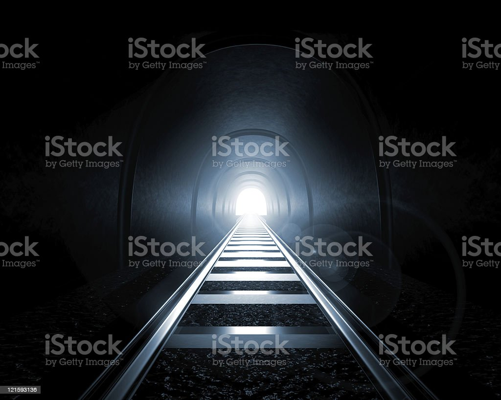 Light at the End of a Tunnel royalty-free stock photo