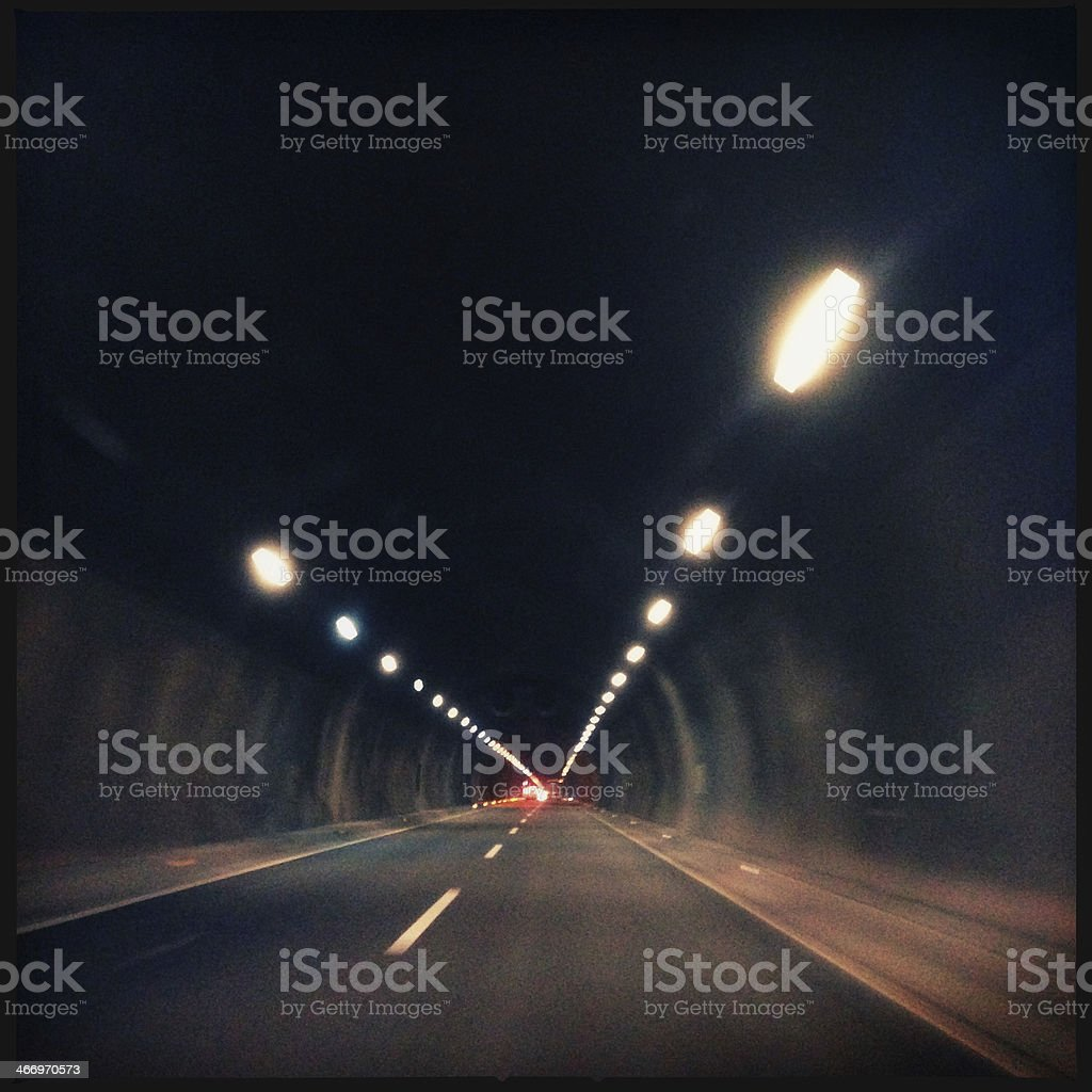 light at the end of a tunnel. royalty-free stock photo