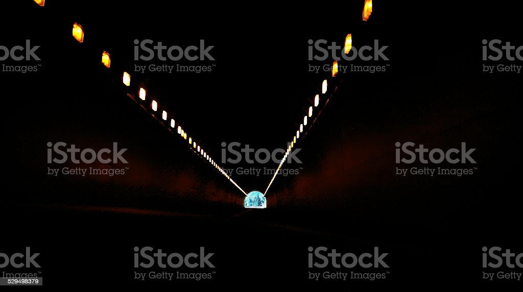 Light At The End Of A Tunnel stock photo