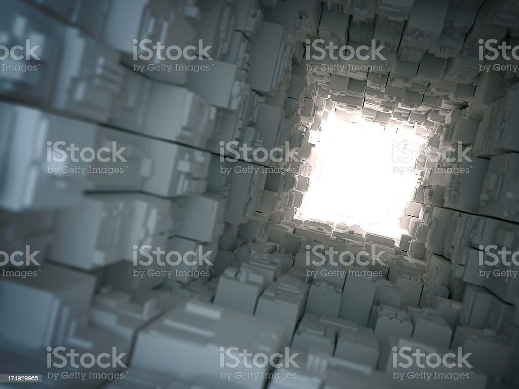 Light at the end of cyber-tunnel royalty-free stock photo
