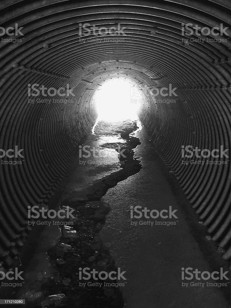 Light at the End of the Tunnel royalty-free stock photo