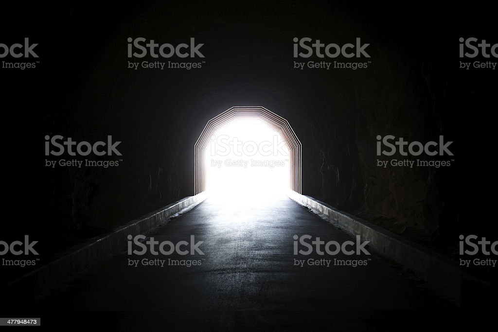 light at the end of the tunnel For those that believe in god, he is at end of tunnel for others it's light after  darkness a guiding light after dark also something good at end of.