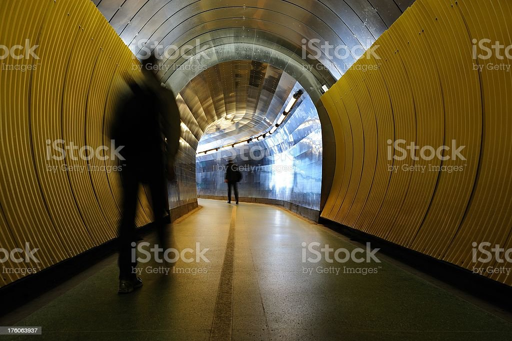Light at the end of tunnel royalty-free stock photo
