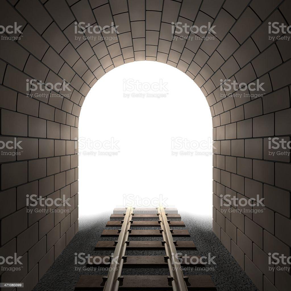 光の終わりに、Tunnel ロイヤリティフリーストックフォト