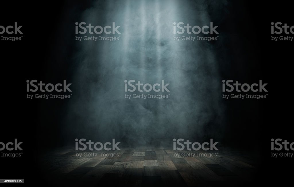 Light beam on the stage stock photo