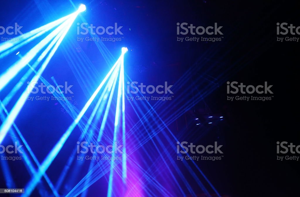 Light beams show stock photo