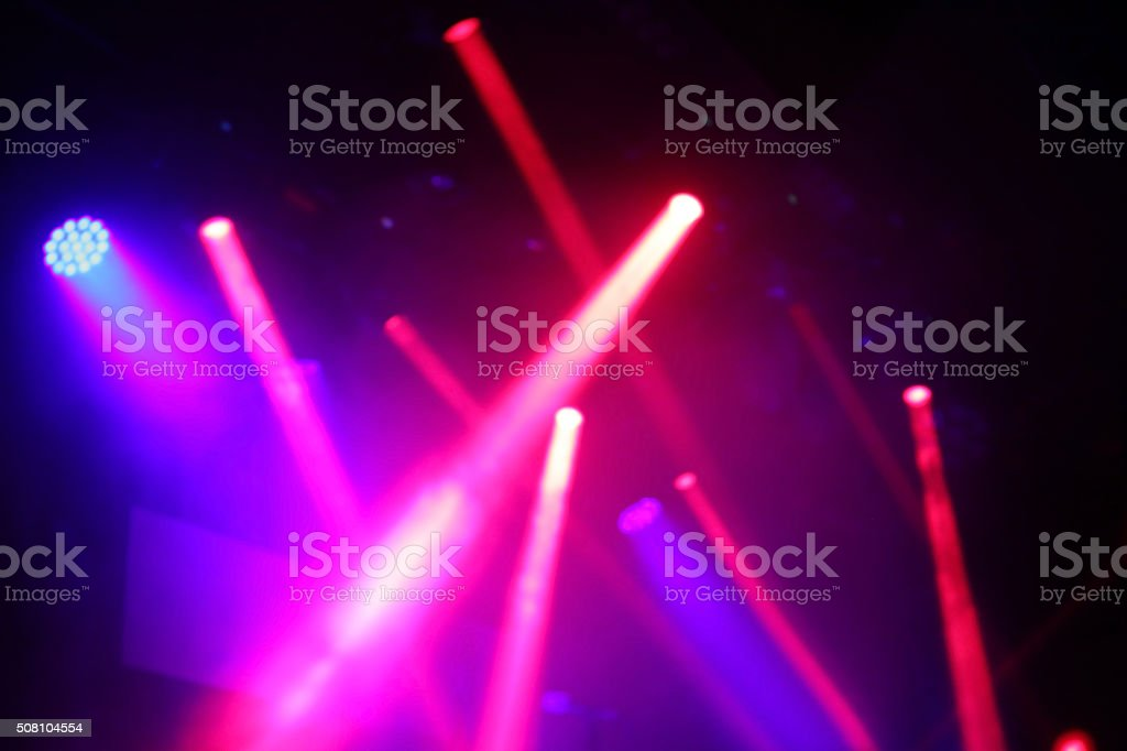 Light beams show stock photo