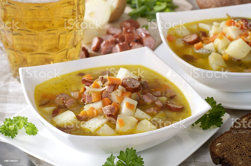 Light beer soup stock photo