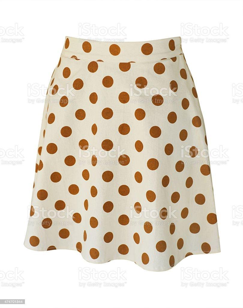 light beige polka dot skirt stock photo