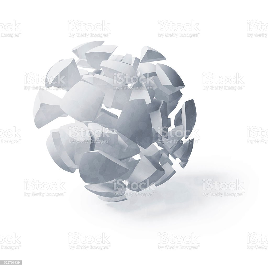 Light blue abstract 3d spherical object stock photo