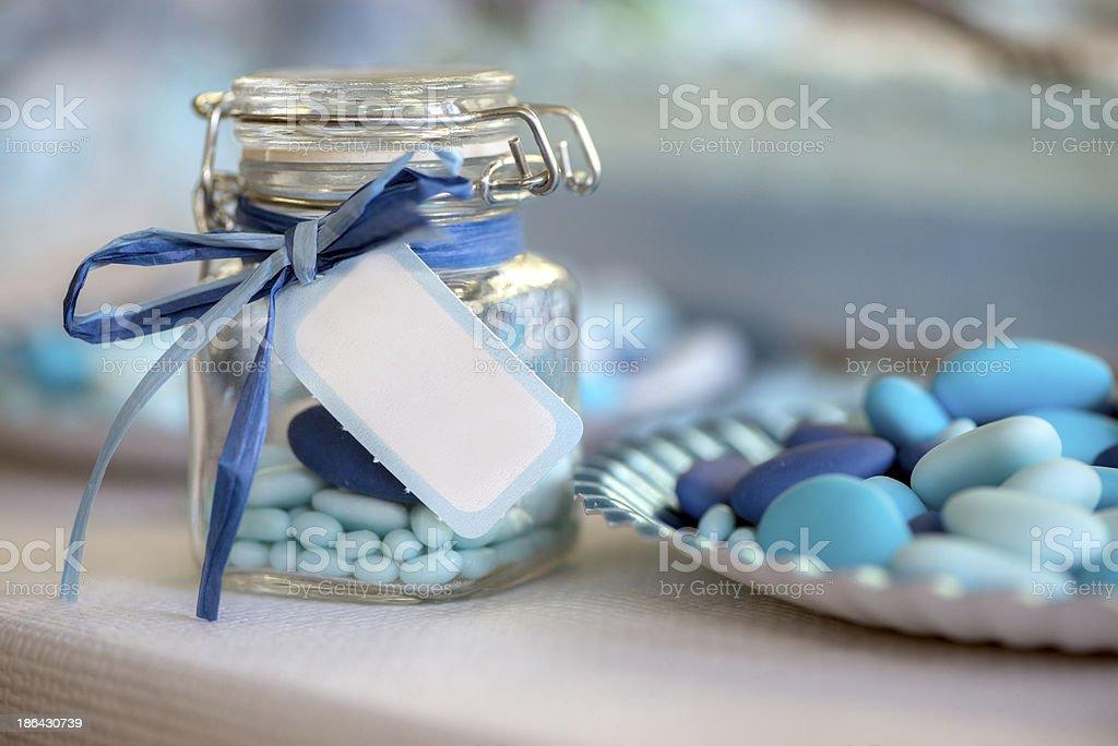 light blue candy birth royalty-free stock photo