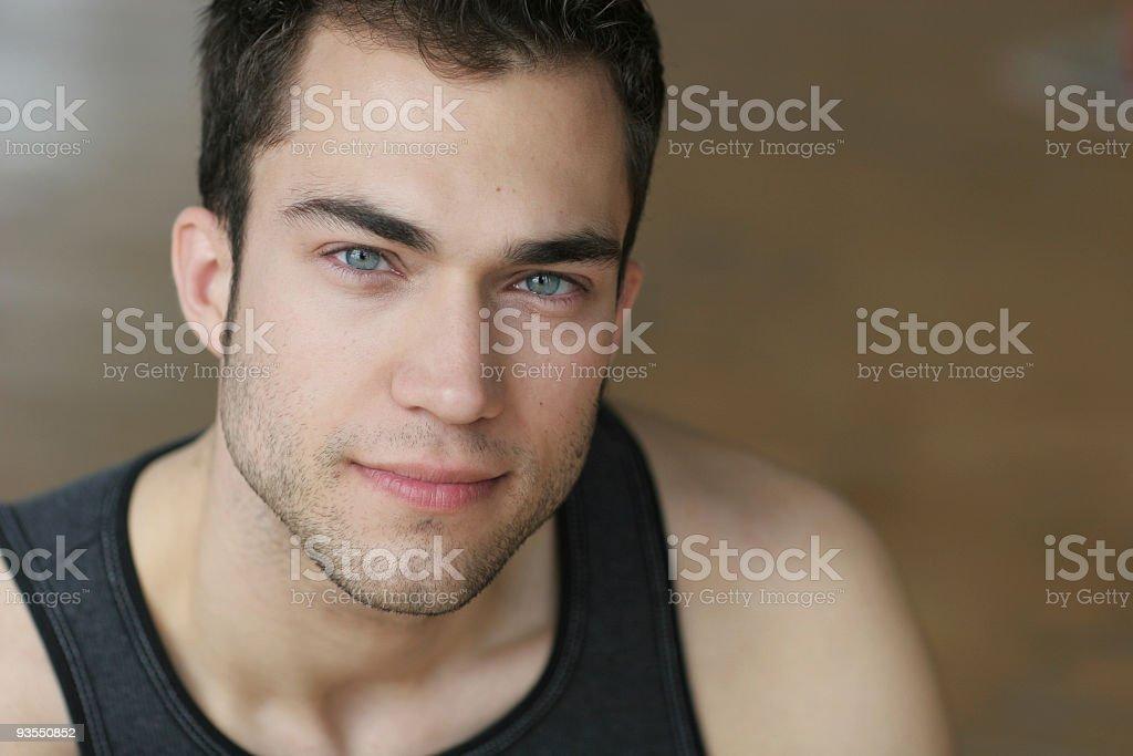 light blue eyes Series royalty-free stock photo