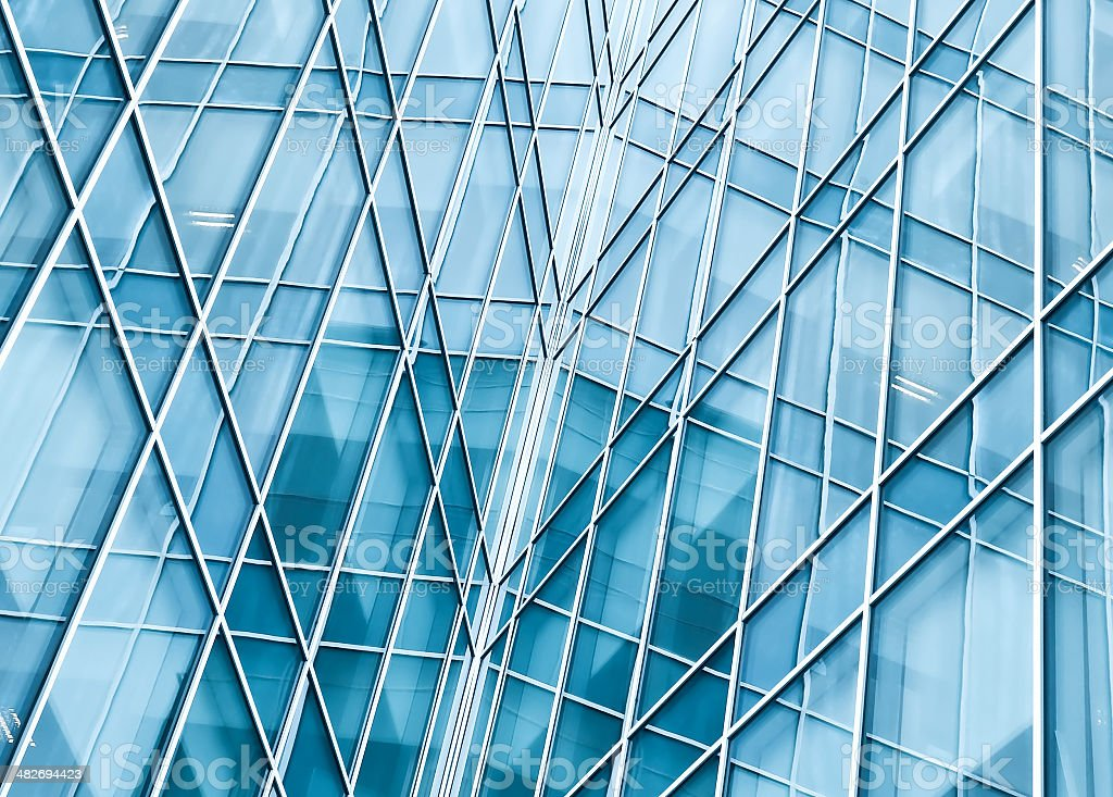 light blue glass texture of transparent skyscrapers vector art illustration