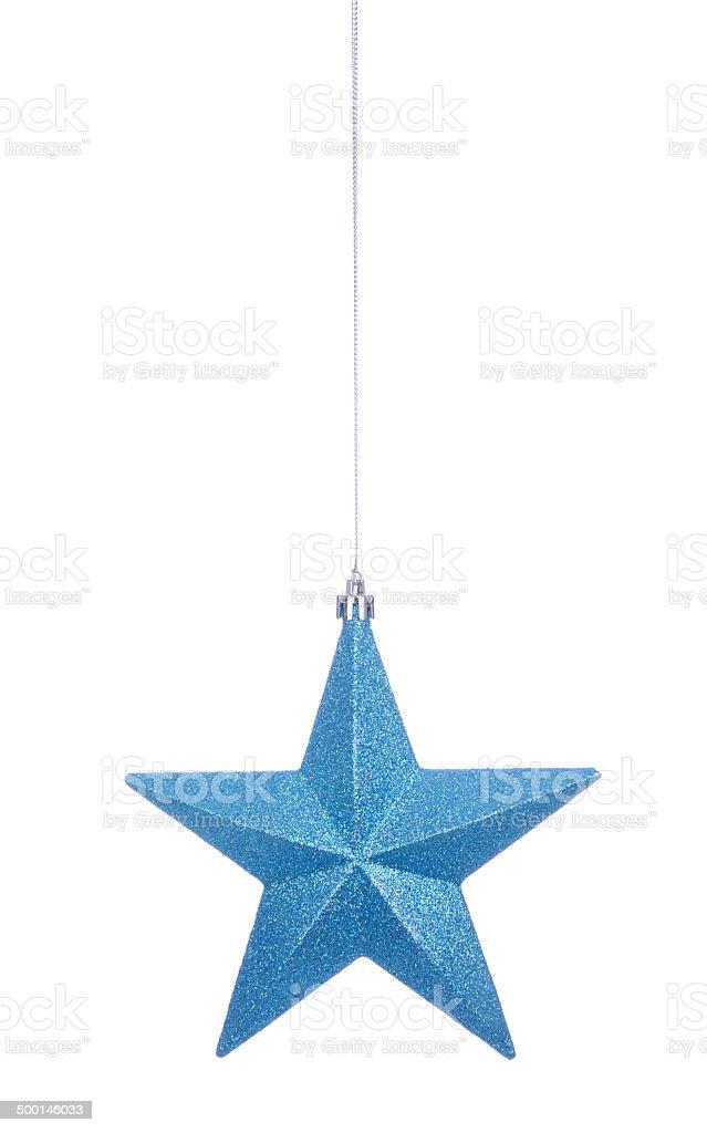 Light Blue Glitter Star stock photo