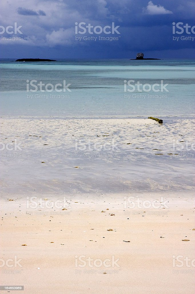 light blue in nosy be royalty-free stock photo
